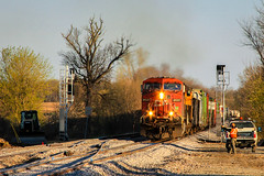 CP Voltz? (sdl39hogger) Tags: wisconsin canadianpacific cp ge watertown voltz generalelectric generalelectriclocomotives watertownsub newcrossovers provimiroad