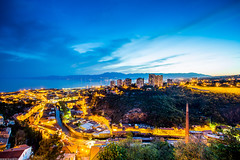 Rijeka from the Trsat fortress (Ivan Klindi) Tags: blue chimney sky panorama night clouds canon photography long exposure wide croatia hour fortress 1740mm opatija hrvatska no rijeka 6d trsat ucka kvarner