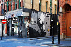 street art (Katrinitsa) Tags: street city uk greatbritain bridge flowers trees england sky sun sunlight white inspiration black streets bus art cars nature water colors wall architecture canon buildings reflections river painting walking manchester hope graffiti spring amazing europe cityscape traffic riverside unitedkingdom britain inspired streetphotography bridges wallart pont british citycenter stroll inspiring streetview skyview strolling standforsomething