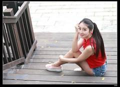 nEO_IMG_DP1U0075 (c0466art) Tags: blue school light portrait hot girl canon energy long pretty slim pants jean legs outdoor good gorgeous young short figure charming 1dx  c0466art