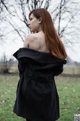 Like a molting (tnekralc) Tags: winter sexy naked model serena shoulder redleaf molting