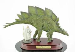 Stegosaurus ( 1:35 ) with Gandalf ( 1:35 ) (RobinGoodfellow_(m)) Tags: favorite gandalf 135 stegosaurus