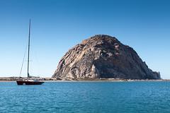 Morro Rock (AndreasGarcia) Tags: ocean california color rock sailboat digital landscape photography morrobay centralcoast morrorock canon5dmkii