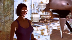 238 (Beth Amphetamines) Tags: pink blue sea wallpaper home handy gold robot screenshot eyes tank top redhead glowing cave nurse lipstick cavern curie lizzy hovering virgils plated pipboy lighton fallout4