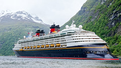 Disney Magic at Geiranger, Norway (Curtis Lannom) Tags: cruise norway europe magic disney dcl geiranger mreogromsdal