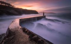 Viavlez (Asturias, Spain) (Hawranekk) Tags: sunset espaa port puerto atardecer mar spain outdoor sigma asturias filter 1020 haida cantabrico nd400 viavlez