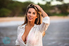 Ariana Lauren - Fashion Blogger (brandon.vincent) Tags: ocean sunset woman sexy beach girl beautiful fashion model photoshoot south maui blogger bikini swimsuit swimwear wailea