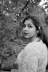 Cookie (Wajdi Hmissi) Tags: trees portrait lebanon white black flower girl smile stairs outdoors model pretty gorgeous young beirut prertty