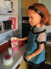 A glass of milk (Foxy Belle) Tags: food scale kitchen vintage milk doll teen betsy 16 diorama dollhouse sindy mccall uneeda playscale