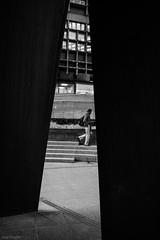 Through the iron curtain (bananacake1000) Tags: uk blackandwhite london lines architecture nikon candid streetphotography lightanddark d7200
