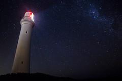 Split Point Lighthouse (wozzl3) Tags: longexposure nightphotography lighthouse stars slowshutter greatoceanroad milkyway nightshooting splitpointlighthouse