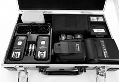 758 of 1096 - Flash git (Hi, I'm Tim Large) Tags: radio canon portable fuji flash case fujifilm kit fujinon contents tabletop calumet xf triggers 580exii xpro1 timlarge tacraftphotography tacrafts timothylarge