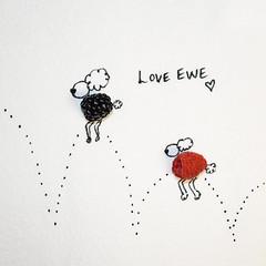 Jake & Jane (AngelBeil) Tags: food love jellies berries sheep blueberry raspberry valentinesday jumpingproject napkinart loveewe countingsheep iloveyoutothemoonandback