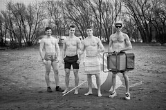 Boyz on a beach (Franky2step) Tags: beach studentlife polarbearclub portdalhousie franky2step fujixt1 fujifilmxf35mmf2rwr