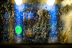 at the car wash #5 (lumofisk) Tags: auto blue green car 50mm drop wash grn blau windscreen tropfen waschen windschutzscheibe transportmittel waschstrase 0mmf0 nikondf