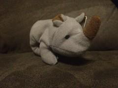 Spike (Beanies and Webkinz 457) Tags: spike beanie rhinoceros teenie teeniebeanie