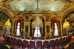 Welcome To My Dinner Party . . . Have A Seat :) :: HDR (:: Artie | Photography :: Travel ~ Oct) Tags: paris france building art monument architecture photoshop canon french table design hall europe apartment chairs louvre indoor structure historic fisheye diningroom handheld 15mm f28 ef hdr diningtable secondempire artie decorativeart muséedulouvre 1852 louvremuseum 3xp photomatix cs6 tonemapping tonemap napoleaniii 5dmarkii 5dm2