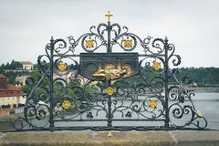 Sculpture for Saint John Nepomuk, St. Charles Bridge, Karlv Most, Prague, Czech Republic (Kris McNeil) Tags: bridge saint st john river king catholic republic czech prague charles most martyr vltava nepomuk karlv wenceslaus