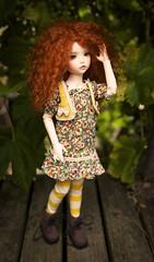 Welcome to My Wonderland (zoziebrown) Tags: cute girl pepper kid bjd freckles wonderland redhair lonnie abjd balljointeddoll iplehouse normalskin iple iplehouselonnie
