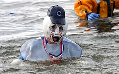 Dripping Baseball Head (jrussell.1916) Tags: blue costumes winter wet baseball lakes kansas specialolympics shawneemissionpark polarplunge canonef70200mmf4lis