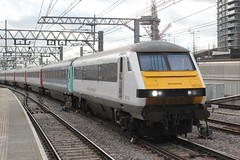 abellio Greater Anglia . DLV 82143 . Stratford Station, East London . Wednesday 03rd-February-2016 . (AndrewHA's) Tags: london station train driving railway luggage east norwich service brake greater express passenger van derby liverpoolstreet stratford anglia brel dlv abellio 82143 1p28