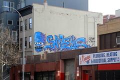 ufo smells (Luna Park) Tags: nyc ny newyork rooftop brooklyn graffiti lunapark smells ufo907 907crew smells907