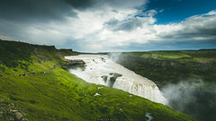 25082015-IMG_3878 (Nicola Pezzoli) Tags: travel summer sky people water grass clouds river landscape waterfall iceland gullfoss
