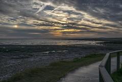 SUN DOG.....REST BAY, SOUTH WALES. (IMAGES OF WALES.... (TIMWOOD)) Tags: sunset southwales wales landscape coast gallery path south unusual sundog bridgend coastalpath porthcawl sundogs restbay ogmorebysea timwood pinkbay