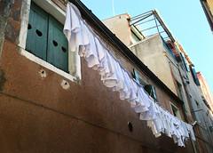 White laundry today (VillaRhapsody) Tags: street venice italy house clean laundry hanging washing washingline