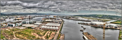Belfast Docks Panorama, Northern Ireland (BangorArt) Tags: panorama seascape docks crane ships belfast cruiseship northernireland tug shipyard samson goliath pumphouse hdr ulster belfastlough harlandandwolff paulanderson thompsongravingdock bangorart