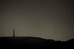 052.365.2016 (johnny the cow) Tags: cloud mist monument silhouette fog wales landscape grey photo skies diary hill cymru hills aberystwyth collection 365 catalogue ceredigion 2016 pendinas aphotoaday 366
