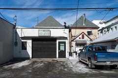 Behind Gertrude (bryanscott) Tags: ca winter snow canada building architecture alley winnipeg manitoba backlane