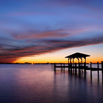 Windy sunset over the Indian River Lagoon. thumbnail