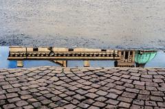 TRINE E MERLETTI (zozoros) Tags: reflection water rain puddle acqua pioggia trine riflesso pozzanghera merletti