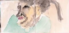 jetzt war sie vielleicht eine alte Frau, aber damals, damals war sie jung gewesen, jung und voller verrckter Ideen (raumoberbayern) Tags: summer bus pencil subway munich mnchen sketch drawing sommer tram sketchbook heat ubahn draw bleistift robbbilder skizzenbuch zeichung