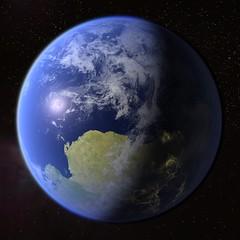 Terraformed & Populated Mars (Kevin M. Gill) Tags: mars space computergraphics terraforming livingmars