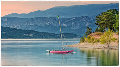 Vivere a colori (marypink) Tags: sky france mountains water boat provence francia 2470mmf28 lessallessurverdon nikond7200 lagodisaintecroix
