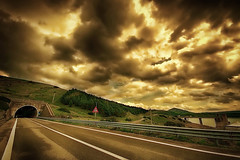 Before the tunnel (* landscape photographer *) Tags: road sunset italy clouds flickr strada tramonto nuvole valle valley 1020 paesaggio lucania 2016 senise nikond90 landscapephotographer sinni