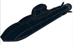 SSXDragonfishMOD1-001 (Dragonov Brick Works) Tags: lego submarine snot ldraw microscale studless