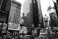 DSC_2461 (abi.rayner) Tags: new york city nyc newyorkcity blackandwhite monochrome architecture square photography photo cosmopolitan manhattan timessquare metropolis times tonal