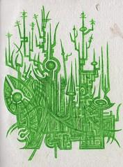 Green City (darksaga66) Tags: city green art doodle penandink inkart bookofink