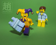 April Fool (mikechiu86) Tags: funny lego jester april joker collectible fool underpants minifigure emmet minifigures