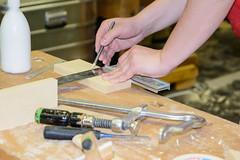 Przisionsarbeit vom Tischler (wohnblogAt) Tags: holz arbeit ausstellung handwerk werkzeug tischler baumesse nachhaltig bauenundwohnensalzburg