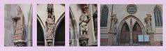 2012.09.03.050.1 RIBEAUVILLE - Portail de l'église du couvent des augustins(XIV°) (alainmichot93 (Bonjour à tous - Hello everyone)) Tags: street france fleur statue architecture calle alsace rue église fenêtre façade ribeauville 2012 portail hautrhin maisonàcolombages xivèmesiècle couventdesaugustins