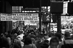 Evening Tide (Chrissy Tha Black) Tags: street new york city nyc morning light portrait blackandwhite bw streets art home monochrome st work canon square creativity 50mm evening shots outdoor manhattan low 34thstreet streetphotography going 300mm midtown explore busy rush hour daytime times activity highlight unexpected 34th attractions springtime artistry offguard yakubs