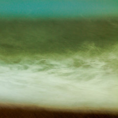 Restless (catkin314) Tags: sea colour beach water horizon wave icm windblown