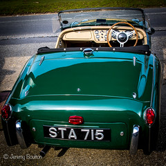 TR2 Rear (JKmedia) Tags: old red cars car vintage jack benz shiny technology open garage wheels progress retro workshop triumph manmade vehicle bonnet beaulieu manufactured relic yesteryear garages tr2 racinggreen canoneos7dmarkii boultonphotography