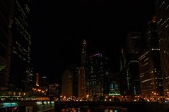 night shot 1 (Nancy Vigas) Tags: lighting bridge urban chicago building architecture night river lights nikon downtown dslr build luminosity d300s