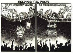 Helping the Poor (KAZVorpal) Tags: poverty poor cartoon conservative capitalism liberal socialism progressive welfare freemarkets biggovernment