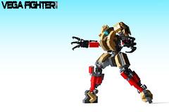 Vega Fighter (action pose) (Devid VII) Tags: red detail mobile war fighter lego military details tan wars vega claws vii mecha mech moc drone devid foitsop devidvii